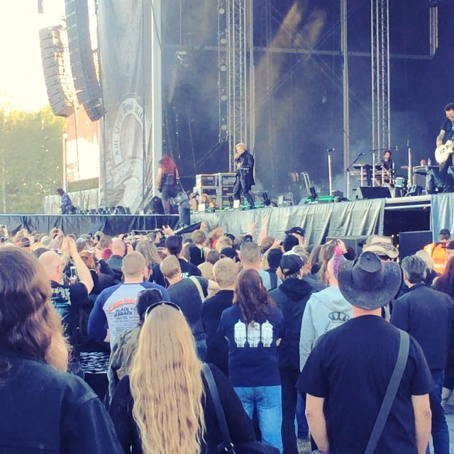 SWEDEN ROCK - DAG: Billy Idol skrålar Cradle Of Love på Festival Stage. #billyidol #srf2014 #rockbladet #rblive #nostalgi